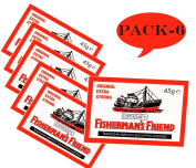 Fisherman's Friend Original Extra Strong Lozenges 45g-PACK-OF-6