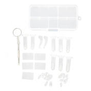 Spectacle Glasses Repair Kit Screws Nose Pads Screwdriver
