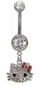 Belly Bar Hello Kitty with band Design by BodyTrend - 12MM