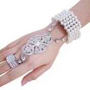 Ever Faith Austrian Crystal The Great Gatsby Inspired Bridal Bracelet Ring Set Clear N02534-1