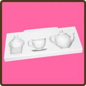 KATY SUE DESIGNS - Cake Cupcake Silicone Mould - Afternoon Tea