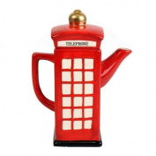 Ancdream Retro London Style Telephone Teapot Coffee Tea Pot Kitchen Novelty Vintage Phone Box