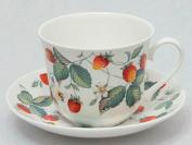 Roy Kirkham Alpine Strawberry Chatsworth breakfast cup and sauce