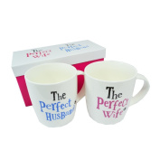 The Bright Side Wedding Gift Mug Set - The Perfect Wife/ The Perfect Husband