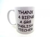 english teacher funny novelty gift tea coffee 330ml mug leaving present