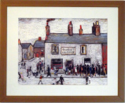L S Lowry Speciality Print / Picture - CHIP SHOP - On A Linen Structure Medium