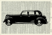 Old-Fashioned Rover ART PRINT - GIFT - Car ART PRINT - VICTORIAN ART PRINT - Transport -VINTAGE ART - - Illustration - Picture - Vintage Dictionary Art Print - Wall Hanging - Home Décor - Housewares -Book Print 73D
