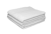20 X WHITE HAIRDRESSING/ SALON TOWELS, 400GM, 50 X 85CM