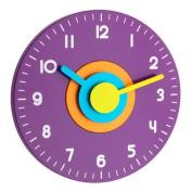 TFA Polo Wall Clock, Purple