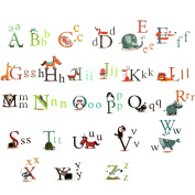 26 Animal Alphabet Letters Removable Wall Sticker