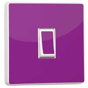 Plain Violet Light Switch Sticker vinyl cover skin decal by stika.co [Generic Single]