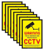 Six (6 stickers) CCTV Window Stickers / CCTV Signs / Security Warning Stickers