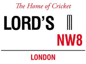 LORD'S NW8 LONDON STREET SIGN CRICKET GROUND METAL STEEL ADVERTISING WALL SIGN