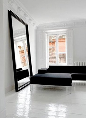 Extra Large Over Sized Floor To Wall Matt Black Framed