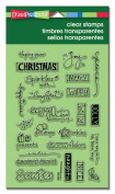 Stampendous Perfectly Clear Christmas Stamps 10cm x 15cm Sheet-Holiday Words