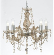 Marie Therese Style Crystal Glass Chandelier in Champane colour by Marco Tielle