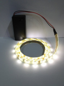 Battery Led Strip - Warm White 500mm Ideal for Display / Dolls House Lighting Exhibition