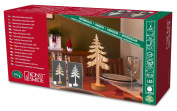 Konstsmide Indoor Decoration Silhouette 3D Pine Tree Motif with 10 Warm White LEDs White Wood, Natural Pine