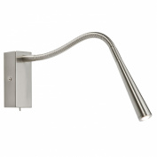 Saxby Madison satin nickel LED bed side reading light 1W