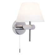 Astro 0434 G9 Roma Switched Wall Light including 1 x 40 Watt 230 V Bulb, Chrome