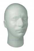 Male Mannequin Polystyrene Head