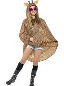 Smiffys Giraffe Party Poncho/Shower Resistant with Drawstring Bag