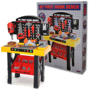 CHILDRENS TOY WORKBENCH TOOL KIT BENCH KIDS DIY WORK STATION WORKING DRILL PLAY