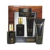 Stetson Black By Coty - Gift Set -- 45ml Cologne Splash + 100ml After Shave Balm