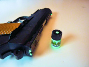 GLOW-ON GREEN colour, Super phosphorescent Gun Sights Paint. Small 2.3 ml vial. Green day colour/Green Glow