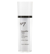 No7 Beautiful Skin : Pore Minimising Serum 30ml (1 Oz) : Made in EU :The advanced Poreless complex helps to visibly reduce pore size and regulate sebum production to reveal beautiful clear and healthy looking skin.