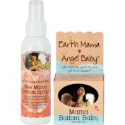 Earth Mama Angel Baby, Mama Bottom Balm, 60ml Jar PLUS New Mama Bottom Spray - 120ml