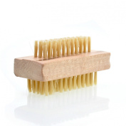 Wooden Bath Brush Nail Brush Hand & Foot Brush Dual Sided for Fingernail Manicure Pedicure by Bellesha