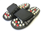 Powerful Reflexology Sandals - Massage Slippers; Acupressure Foot Massager; Foot Massager; Reflex Massage Sandal; These Reflexology Sandals Counts With Nodules That Apply Pressure on Specific Points on Your Feet to Provide a Great Massage While Relaxin ..
