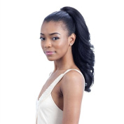 FEATHER GIRL (1 Jet Black) - Freetress Equal Drawstring Synthetic Ponytail