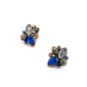 Lvxuan Elegant Rhinestone Earrings Wholesale Mulit Colour Retro Pendientes Stud Earrings Jewellery
