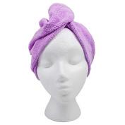 Hair Towel Twist Hair Drying Towel Microfiber Purple