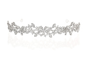 Bridal Floral Rhinestone Crystal Prom Wedding Headband Tiara T1077