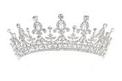 Royal Bridal Pageant Rhinestone Crystal Prom Wedding Tiara Crown T1062