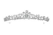 Bridal Floral Rhinestone Crystal Wedding Prom Tiara Crown T1129