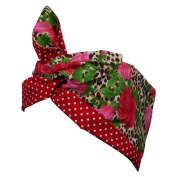 Rockabilly Vintage Style 1950s Hairband - Leopard Rose Print & Red Polka