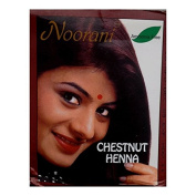Noorani Henna Hair Care Natural Beauty Chestnut Colour Ammonia Free 6 Pouches 10g Each
