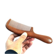 Bao Core / BXT Healthy Thick Smooth Medium Tooth Handmade Red Sandal Wood Comb With Round Hand
