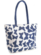 Womens Summer Butterfly Motif Beach-Pool-Swim-Tote-Shopping Large Bag