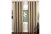 Elrene Home Essex 130cm X 270cm Grommet Window Panel Chocolate (Brown) - Single Panel Only