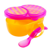 Sassy First Solid Feeding Bowl with Spoon, Colours May Vary