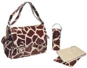 Kalencom Coated Double Buckle Bag, Giraffe Chocolate/Cream