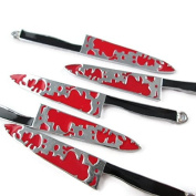Np Supplies 6 Pieces - Bloody Knifes Charms Pendants Knifes