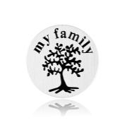 Floating Plate Charm for Glass Locket-My Family