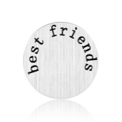 Floating Plate Charm for Glass Locket-Best Friends