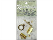 John Bead DAZ26002052-00 Dazzle It Kumihimo Finding Kit - Gold, 16 Mm., Pack Of 3